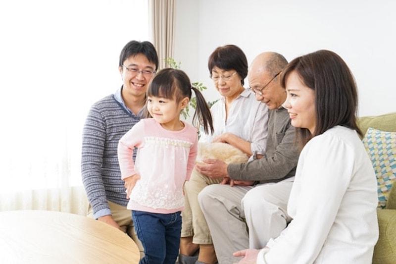 Three-generation family enjoying a warm home in Auburn, CA